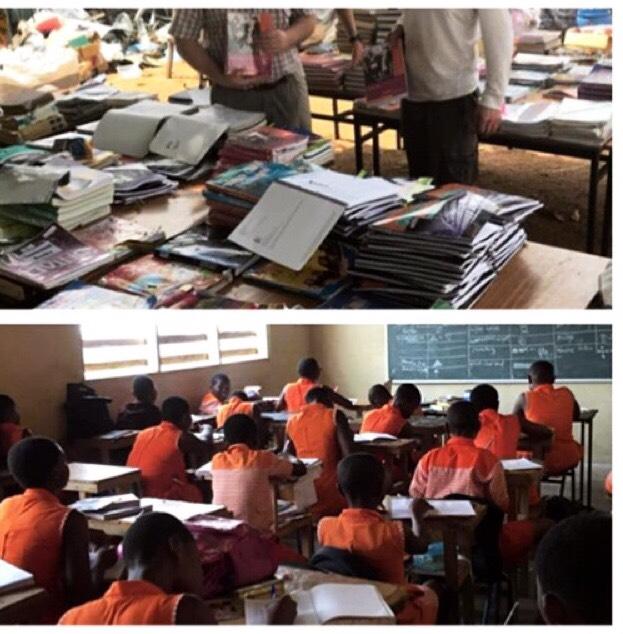 Donated schoolbooks Ghana